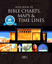 """Rose Book of Bible Charts, Maps & Time Lines has been a must-have resource for every Pastor, teacher and Bible study leader for the past ten years.  Now get the updated and redesigned Anniversary Edition of this best-selling book, Rose Book of Bible Charts, Maps and Time Lines 10th Anniversary Edition!  Enjoy this best-selling book expanded with new charts, upgraded maps highlighting modern-day cities and countries, and up-to-date facts and statistics! Includes 216 reproducible pages of illustrations, charts, and maps on a variety of Bible topics, with two fold-outs of the genealogy of Jesus, cutaway Tabernacle illustration and Bible Time Line."" - Amazon"