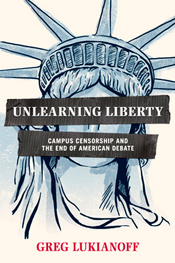 """For over a generation, shocking cases of censorship at America's colleges and universities have taught students the wrong lessons about living in a free society. Drawing on a decade of experience battling for freedom of speech on campus, First Amendment lawyer Greg Lukianoff reveals how higher education fails to teach students to become critical thinkers: by stifling open debate, our campuses are supercharging ideological divisions, promoting groupthink, and encouraging an unscholarly certainty about complex issues."" - Amazon"
